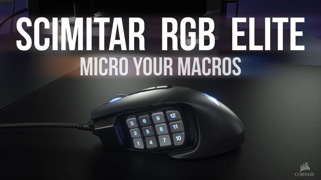 CORSAIR SCIMITAR RGB ELITE MOBA/MMO Gaming Mouse – Micro Your Macros
