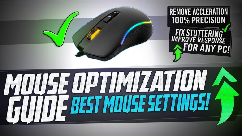 🔧 Mouse Optimization GUIDE for Gaming – 100% Mouse Precision Raw Input, REMOVE Acceleration LAG 🖱️✅