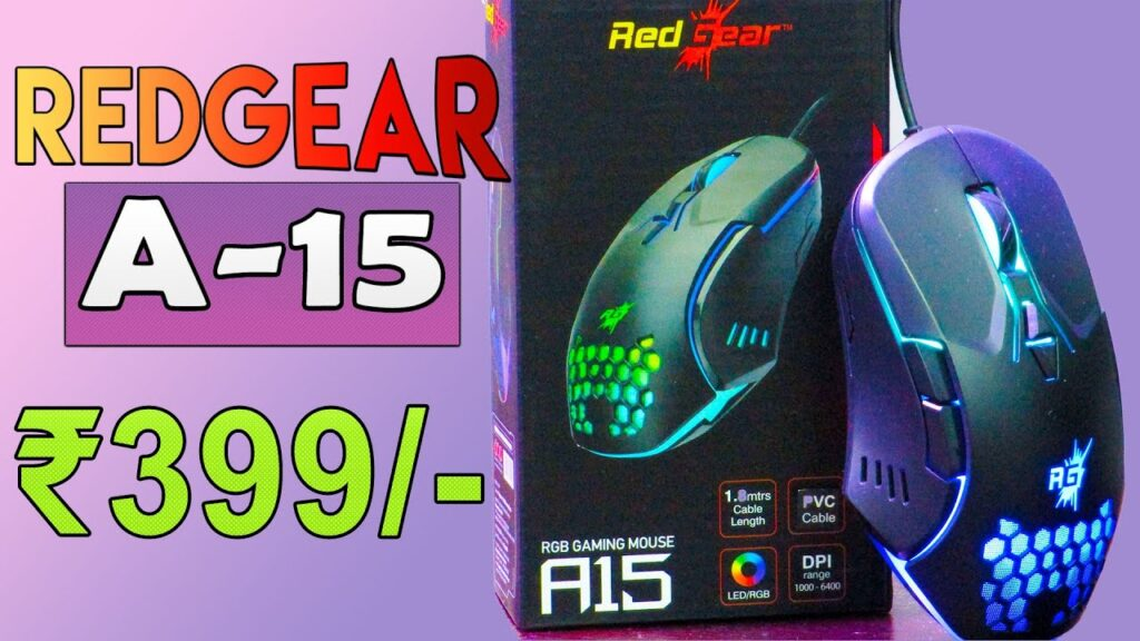Redgear A-15 Gaming Mouse | HINDI | best gaming mouse under 500
