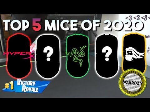 THE TOP 5 GAMING MICE OF 2020